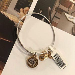 """NWT Alex & Ani """"M"""" Gold & Silver Bangle Bracelet"""